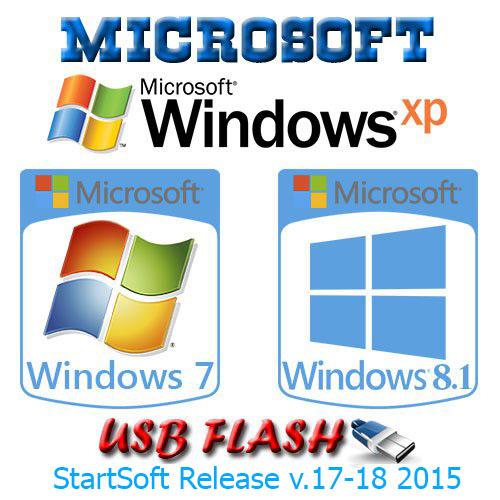 Windows XP-7SP1-8.1 x86 x64 Plus PE & Office StartSoft 17-18-2015 (2015) RU